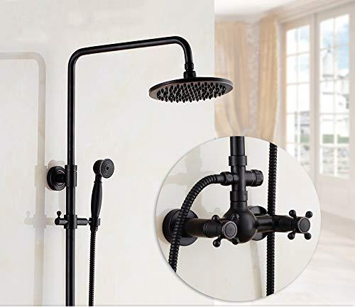 A Hlluya Professional Sink Mixer Tap Kitchen Faucet Black Rain black color antique shower sprinkler kit full copper shower faucet to lift, B