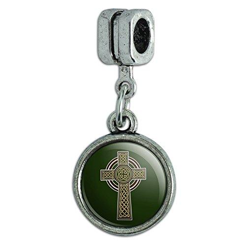 Celtic Christian Cross Irish Ireland Italian European Style Bracelet Charm Bead