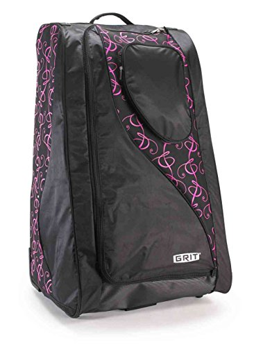 Grit Inc. DT1 Dance Tower 36'' Roller Equipment Bag, Pink on Black DT1-036-PB by Grit