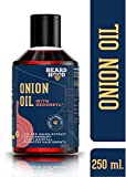 Beardhood Onion Oil with Redensyl for Hair Growth - 20% Red Onion Extract with 14 carrier and essential oils, Mineral Oil & Paraben Free, 250ml