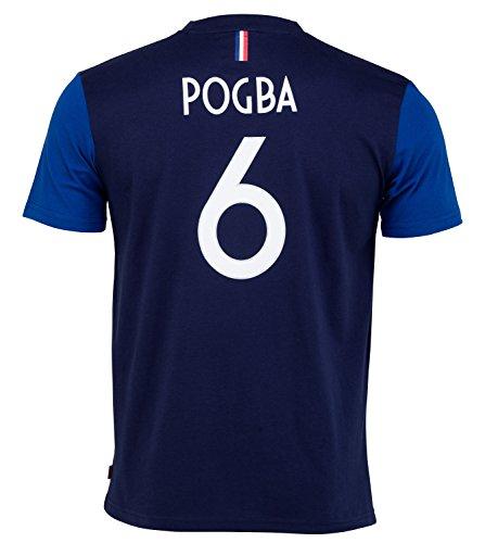 Camiseta oficial de la selección francesa de fútbol de Paul Pogba, talla para niño de 10 años
