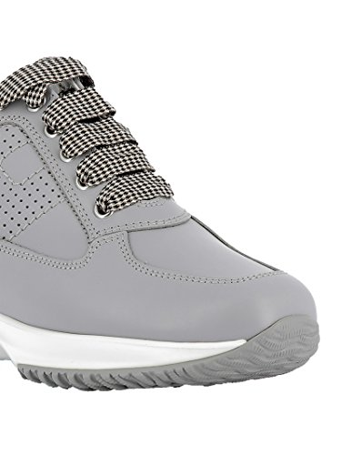 Hogan Women's HXW00N00E30D0WB219 Grey Leather Sneakers free shipping wide range of cheap sale Cheapest fashion Style sale online many kinds of cheap price cd8vi