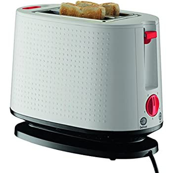 Amazon.com: Bodum Bistro 2-Slice Pop-Up Toaster with Cool Touch Exterior, Red: Kitchen & Dining