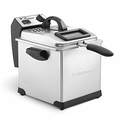 Cuisinart CDF-170 Deep Fryer, 3.4 quart, Stainless Steel (Cuisinart Deep Fryer Compact)