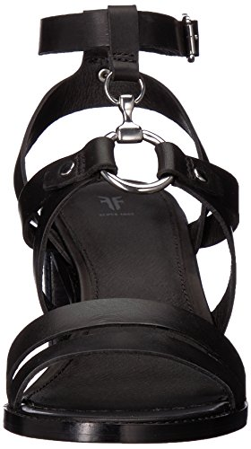 Frye Women's Bianca Harness Heeled Sandal Black YJEoozI8E