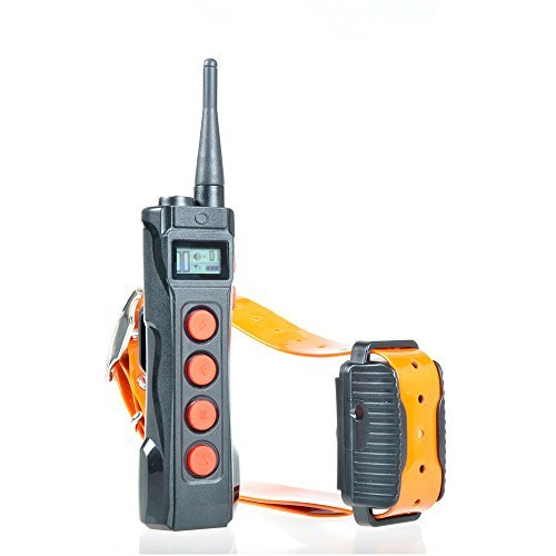 Aetertek AT-919C Dog Training Collar With Remote 10 Levels Of Shock Vibration and Beep for Small, Medium and Large Dogs Pet Safe Waterproof Rechargeable 1000 Yards Range With Auto No Bark Feature by Aetertek