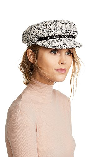 Eugenia Kim Women's Marina Newsboy Cap, Ivory/Multi, One Size by Eugenia Kim