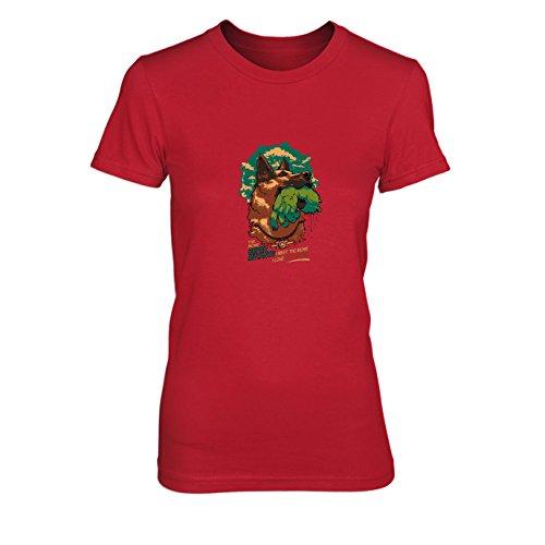 Super Mutant Dog - Damen T-Shirt, Größe: M, Farbe: rot