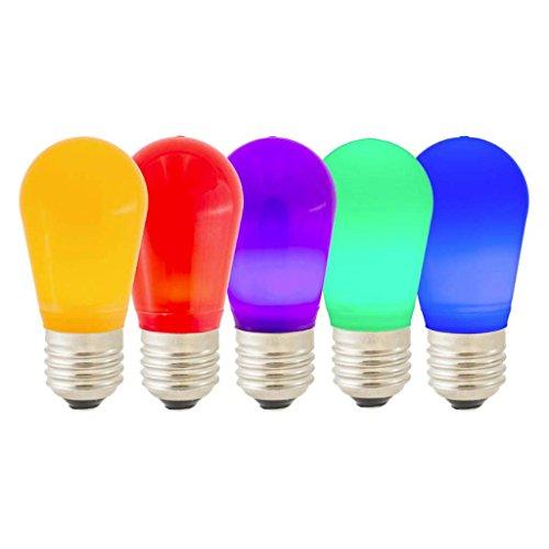 (Vickerman 317099 - S14 LED Multi Ceramic Bulb E26 Nk Base (X14SC00) Standard Solid Ceramic Colored Light Bulb)