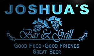 pr038-b Joshua's Bar & Grill Beer Wine Neon Light Sign