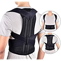 Sports bra Male and female spine correction, Posture Corrector Spinal SupportBreathable Adjustable Back Braces,Black,XXXXL (Color : Black, Size : Small)