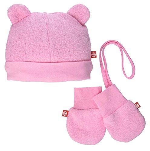 Zutano Cozie Fleece Hat & Mitten Set (Baby) - Pink - 6 Months (Amazon Elements Diapers compare prices)