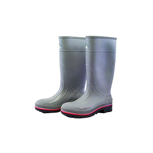 Servus MAX 15'' PVC Chemical-Resistant Soft Toe Men's Work Boots, Gray, Red & Black (75122), Size 9 by Honeywell