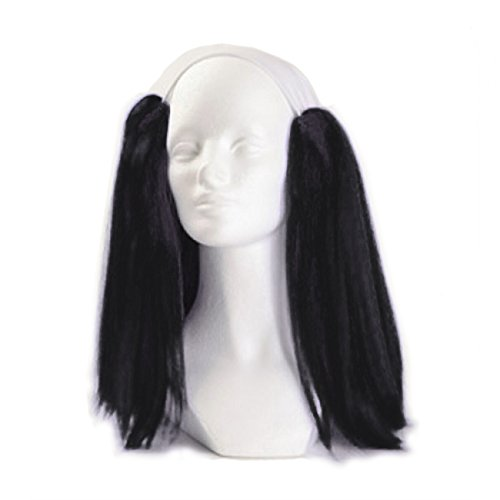 Clown Antics Black Bald Clown Straight Wig