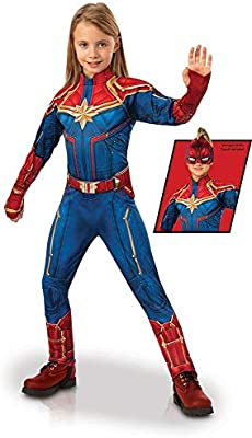 Rubie's Captain Marvel Children's Deluxe Hero Suit, Small 700597 Blue/Red
