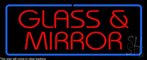 Glass and Mirror Clear Backing Neon Sign 13'' Tall x 32'' Wide by The Sign Store