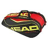 Head 2015 Extreme 9R Supercombi Tennis Bag (Black/Red/Yellow)