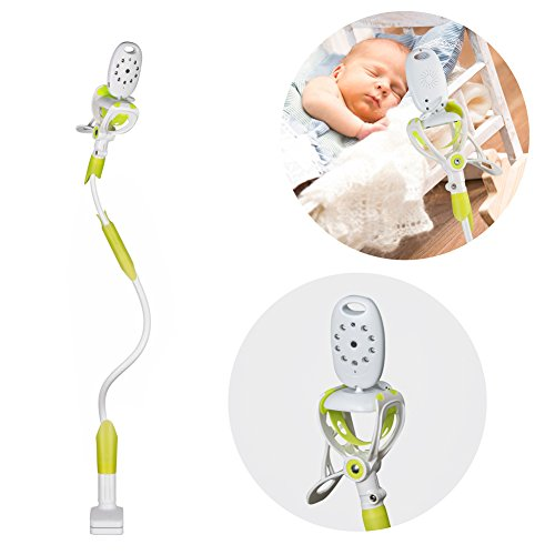 Cheap Universal Baby Monitor Mount – Lavince Baby Camera Mount Baby Camera Holder – Compatible with Most Baby Monitors – Flexible Camera Stand Easy to Get a Complete Safe View of Your Baby (Green)