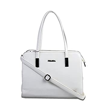 c9f4c2d1723f Buy Femiga Women Top Handle Stylish Handbag-White(HNB097-WHITE) Online at  Low Prices in India - Amazon.in