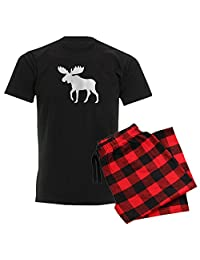 CafePress - Moose - Unisex Novelty Cotton Pajama Set, Comfortable PJ Sleepwear