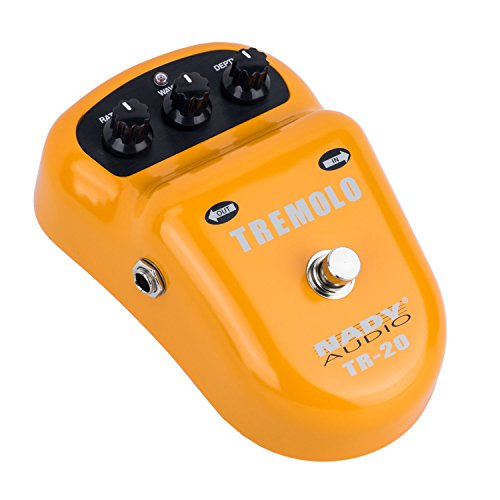 Nady TR-20 Tremolo Pedal – Wave, Rate, and Depth control - All Metal Casing – 9V battery operation or use optional AC adapter by Nady