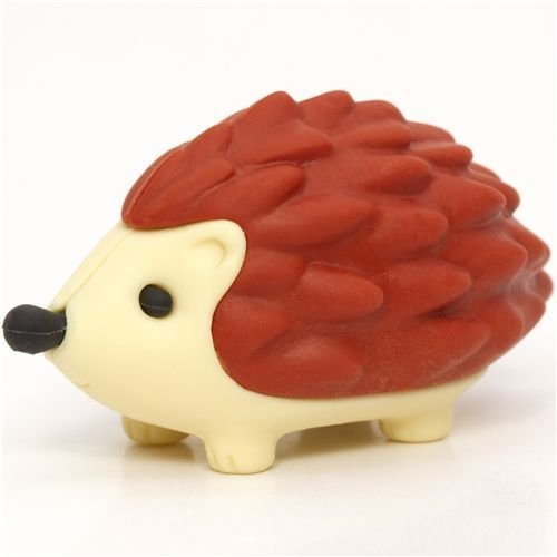 Iwako Red-brown Hedgehog Eraser By From Japan