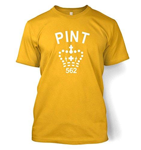 Kids Clothing By Big Mouth Pint Mens T-shirt - Camel Gold XX-Large (50/52