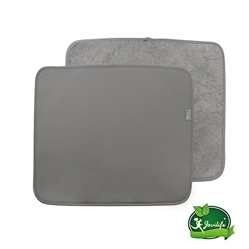 Y.VN 16 by 18-Inch Microfiber Dish Drying Mat -2 pack, Grey
