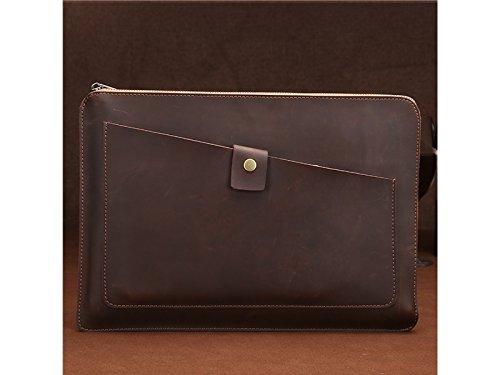 Yunqir Multi-functional 13.3 Inch PU Leather Handbag Tablet Laptop Bag Handbag Computer Inner Bag for Women and Men