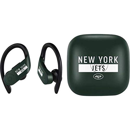 - Skinit New York Jets PowerBeats Pro Skin - Officially Licensed NFL Audio Decal - Ultra Thin, Lightweight Vinyl Decal Protection
