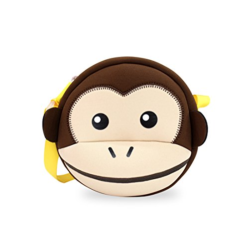 Nohoo 3D Monkey Kids shoulder bag Cute Zoo Cartoon School monkey crossbody