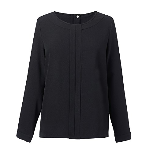 Lunga Sky Brook Roma A Crepe Taverner Tessuto Navy Blue In Donna Blusa Manica fqvnrXWgqw