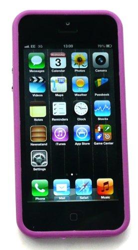 Emartbuy ® Pack Stylet Pour Apple Iphone 5 Mini Pourpre Métallique Stylus + Moulé Butoir Gel Cover / Case Solide Pourpre + Protecteur D'Écran Lcd