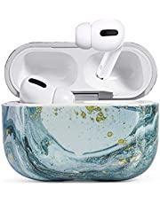 Case for Airpods Pro Case,HIDAHE AirPods Pro Case Cover,Airpods Pro Accessories, Airpods Pro Skin, AirPods Pro Case Cute Girls Kids Protective Cover Case Compatible for Airpods Pro Case, Blue Marble