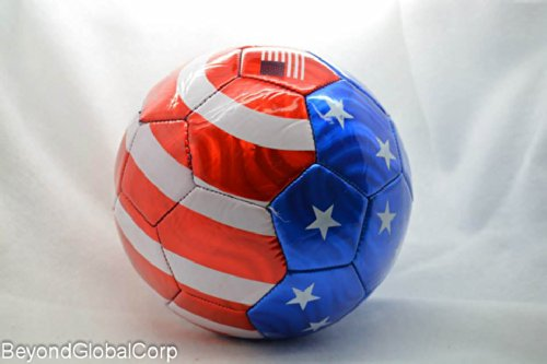 USA Flag Soccer Ball Summer High Quality Outdoor Sport Soccer (Quality Sports Leather Football)