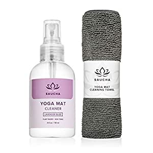 Amazon.com: Saucha Natural Yoga Mat Cleaner Spray 4oz with