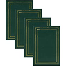 DesignOvation Traditional Photo Albums, Holds 300 4x6 Photos, Set of 4, Dark Green