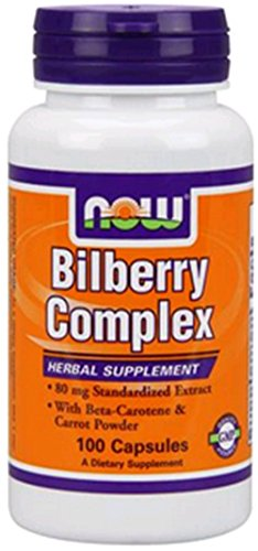 Now Foods Bilberry Complex 80mg