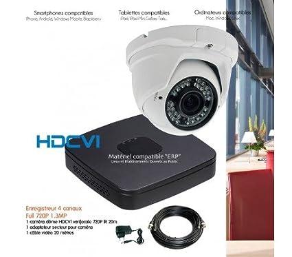 HD-CVI – Sistema HDCVI de video vigilancia con 1 Cámara domo HDCVI varifocale –