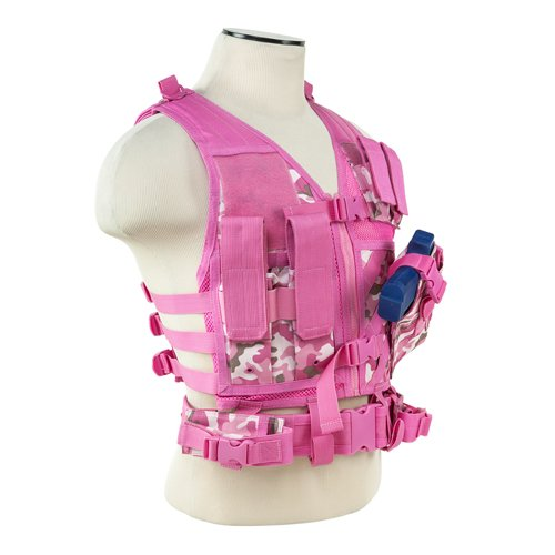 NcSTAR NC Star CTVC2916PC, Tactical Vest, Pink Camo, XS-S