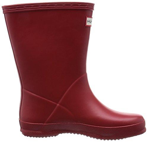 Hunter Junior Young Original - Zapatos de punta redonda sin cordones Military Red