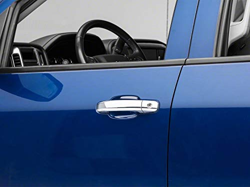 for Chevrolet Silverado 1500 Double Cab and Crew Cab 2014-2018 SpeedForm Chrome Door Handle Covers without Passenger Keyhole