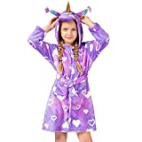 Soft Unicorn Girl Bathrobe Hoodie, Unisex Hooded