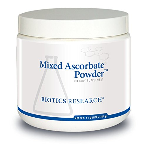 Biotics Research Mixed Ascorbate PowderTM - Powdered Formula, Easily mixes with Water or Juice. VIT C in Combination with Calcium and Magnesium Ascorbate, GI-Friendly, 2.8g/TSP Buffered VIT C, 11oz (Vitamin C Powder Buffered With Calcium And Magnesium)
