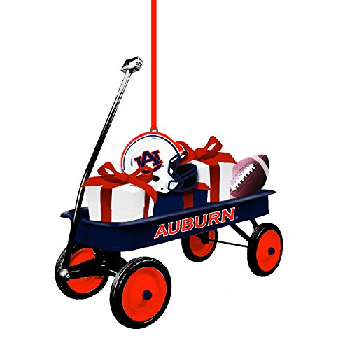 Team Sports America Auburn Team Wagon Ornament - Auburn Santa
