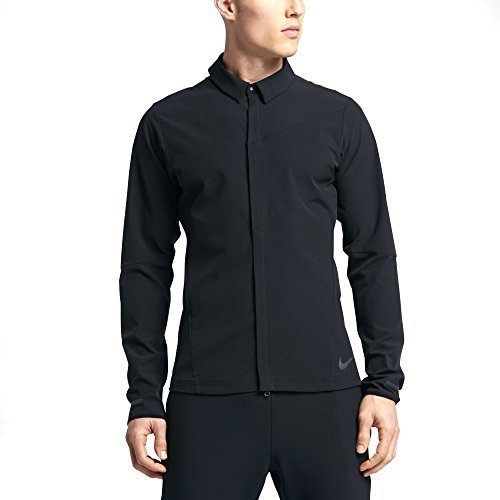Nike Full-zip City Windshirt Top 833575-010 Large (Windshirt Nike Mens)