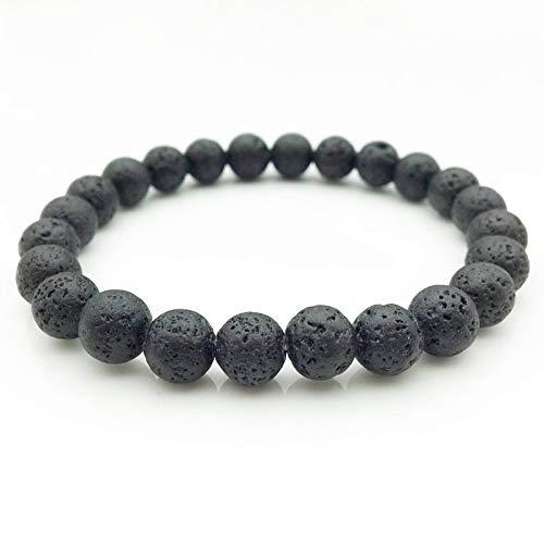Lots Size 8mm Black Lava Stone Beads Bracelet DIY Aromatherapy Essential Oil Perfume Diffuser Bracelet Yoga Jewelry - Calm Aroma Perfume