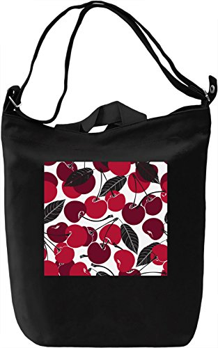Cherry Pattern Borsa Giornaliera Canvas Canvas Day Bag| 100% Premium Cotton Canvas| DTG Printing|