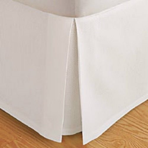 """Deluxe Egyptian 1800 Series Pleated tailored bed skirt with 14"""" Drop, super soft. Available in all sizes, Solid in Variety of colors to match your bedroom décor. Dust Ruffle California King, White"""