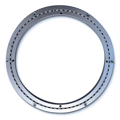 Heavy-Duty Aluminum Lazy Susan Ring/Turntable with Single-Row Ball Bearings for Heavy Loads, 16-Inch ()